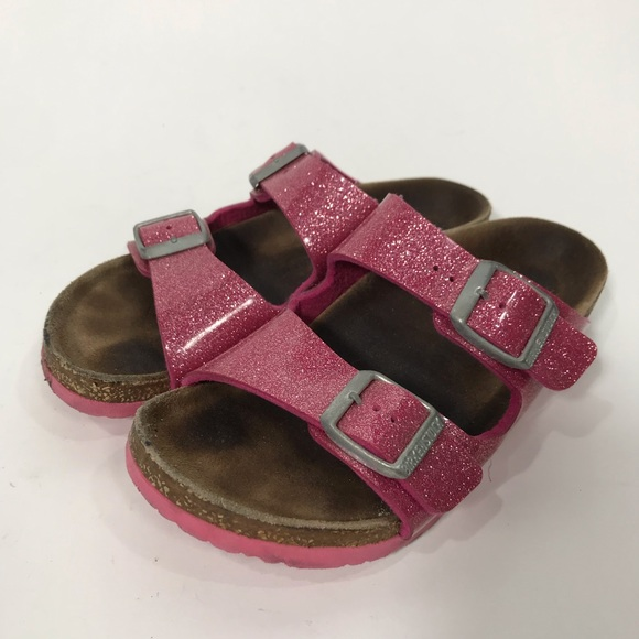 Birkenstock Arizona pink glitter sparkle sandal 31